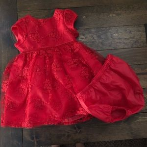 Mia & Mimi Red Embroider Dress